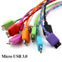 1m Braided Micro USB 3.0 Cable for Samsung