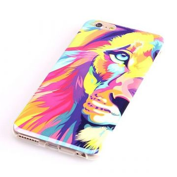 Lion's head TPU soft case iPhone 6 Plus