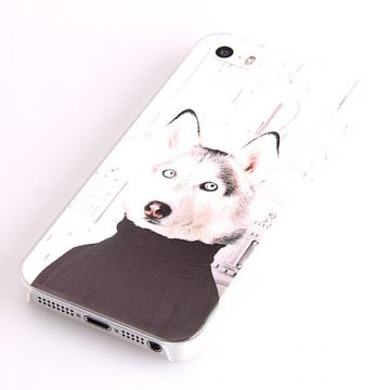 Coque rigide chien à col roulé iPhone 5/5S/SE