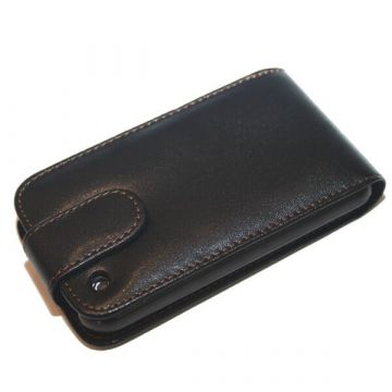 Case With Leatherlook Material Black For iPhone 3G 3GS