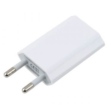 Chargeur secteur blanc USB iPhone iPod