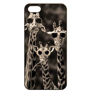 Giraffe sunglasses Hard Case iPhone 5 5S