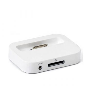 Dock Station pour IPhone 4 4S blanc
