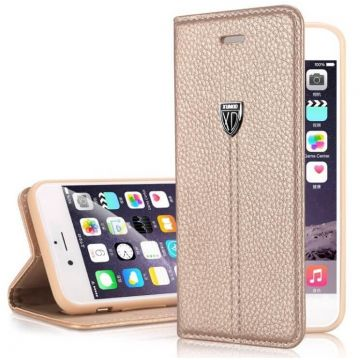 Leer-look portfolio stand case XUNDD iPhone 6
