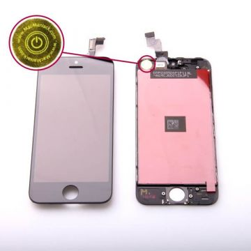 2nd Quality Glass digitizer and LCD Retina Screen for iPhone 5S Black